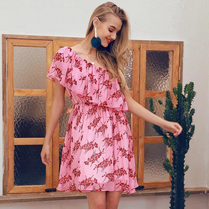 4114bc3481 Only Want You Dress in Pink Floral – Shomie