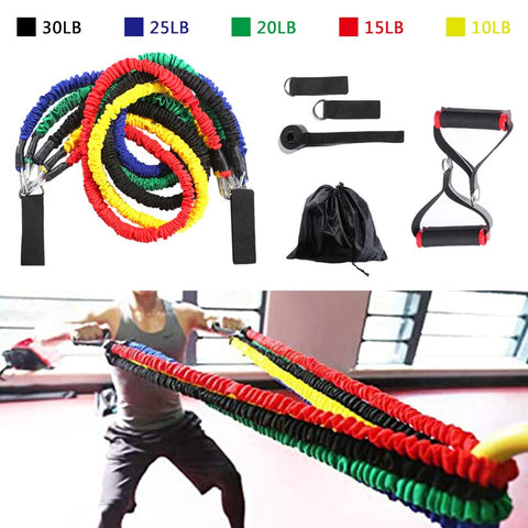 Home Gym 11 Pcs Resistance Band Set