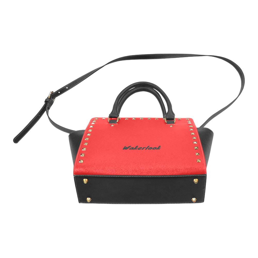 Red Rivet Shoulder Wakerlook Handbag