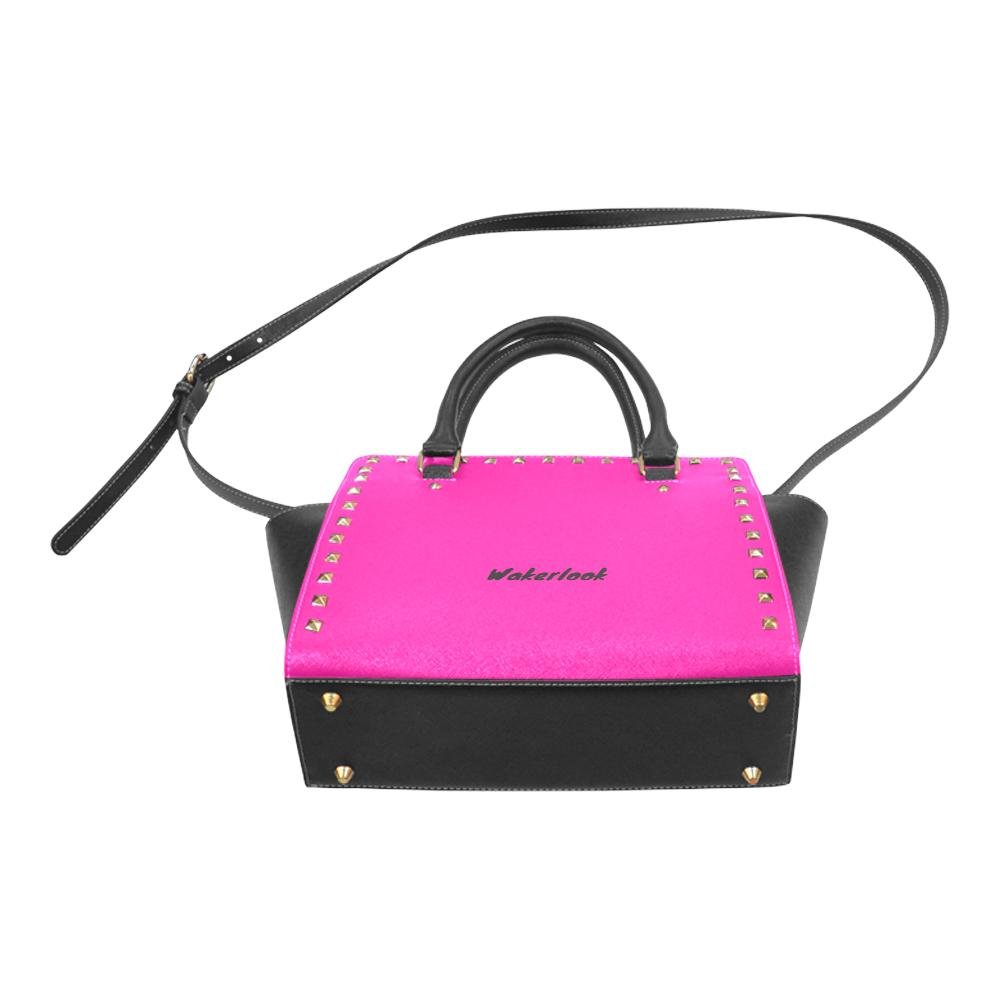 Pink Rivet Shoulder Wakerlook Handbag