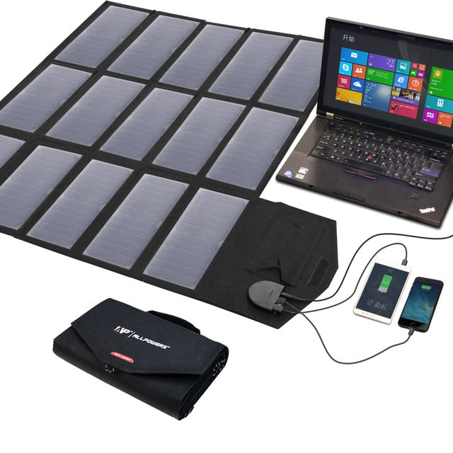 100W Foldable Portable Solar Panel Charger