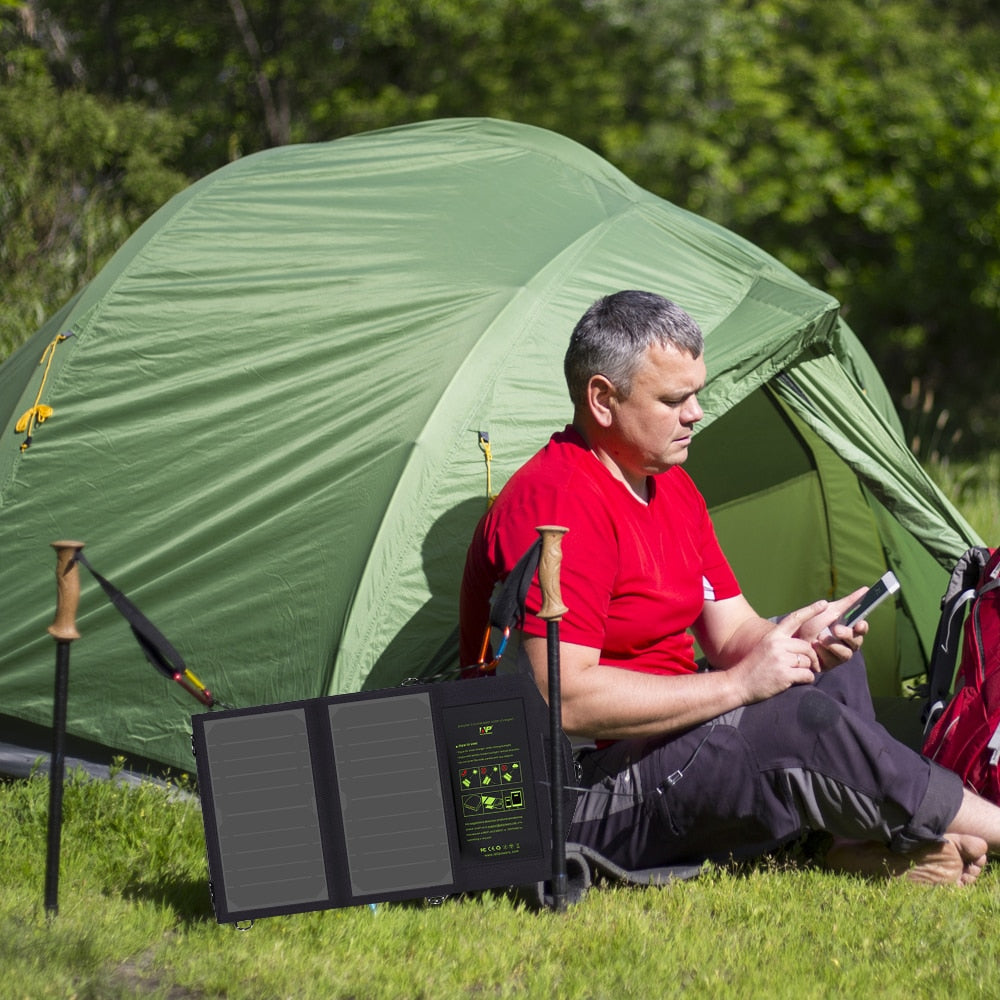 Portable Solar Panel Battery Charger