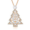 Fresh Pearl Christmas Tree Necklace in 18K Rose Gold Plated
