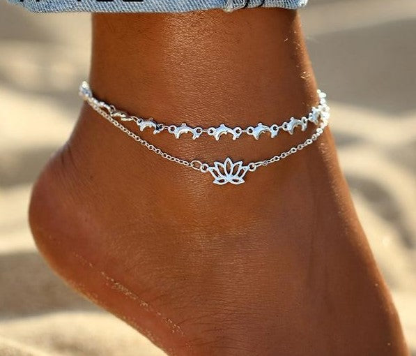 Dolphin Lotus Anklet
