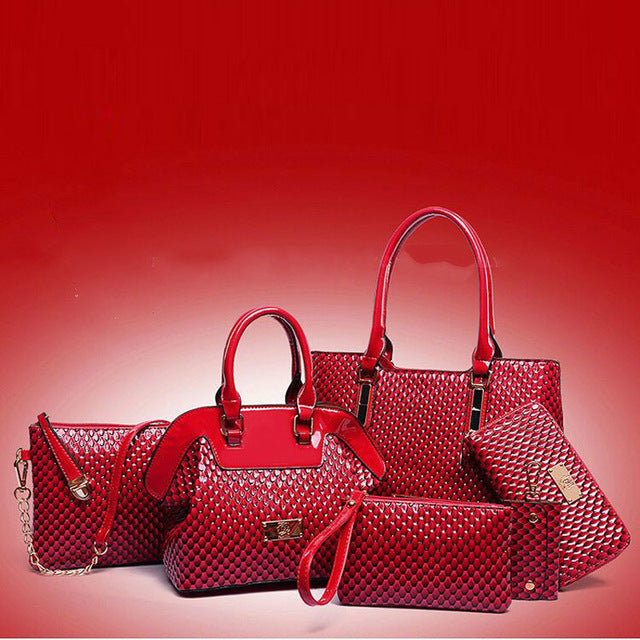 6 Piece Luxury Handbag Set