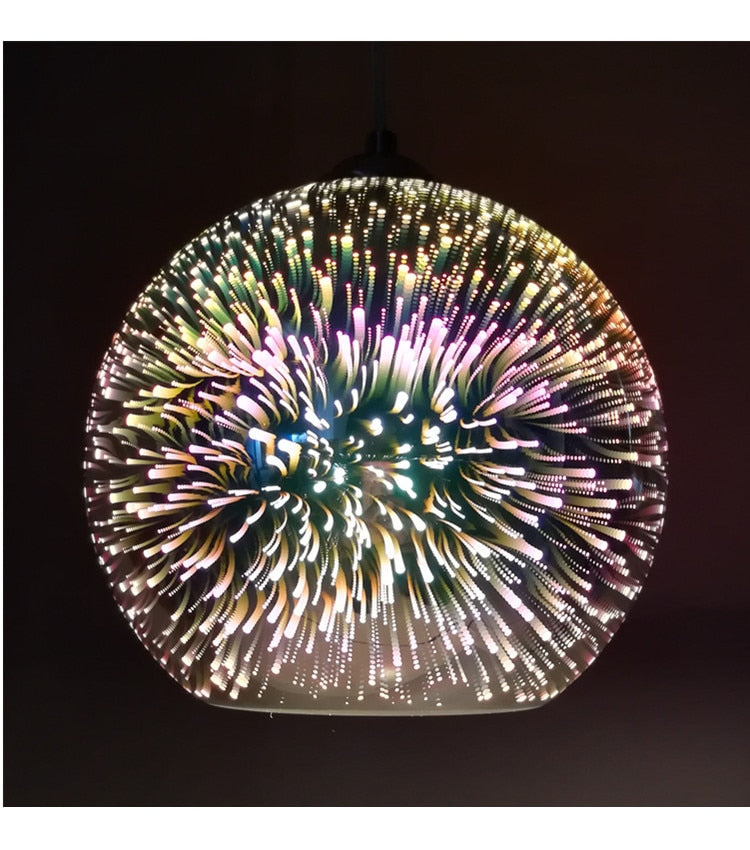 3D Colorful LED Pendant Lamps