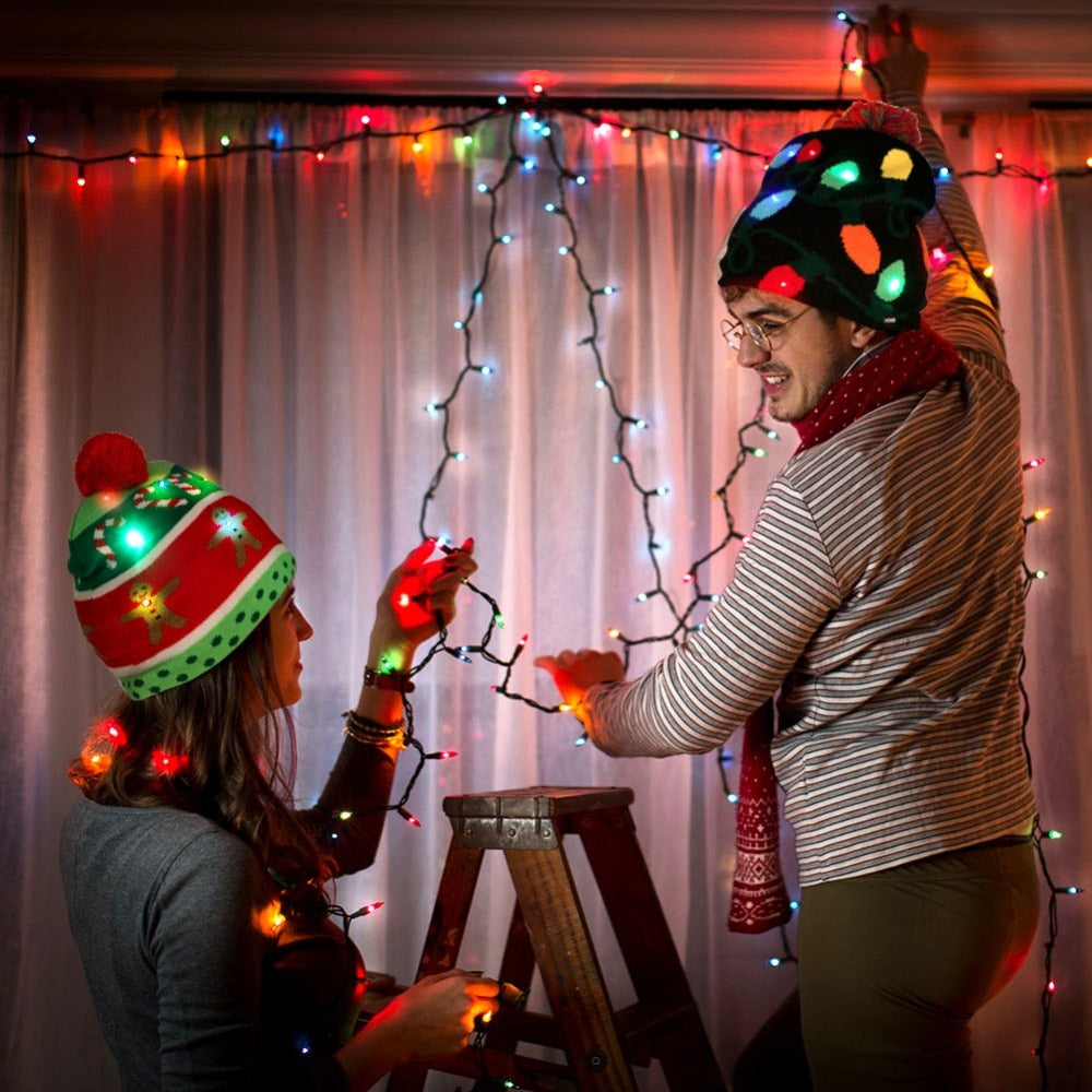 LED Flashing Christmas Hats