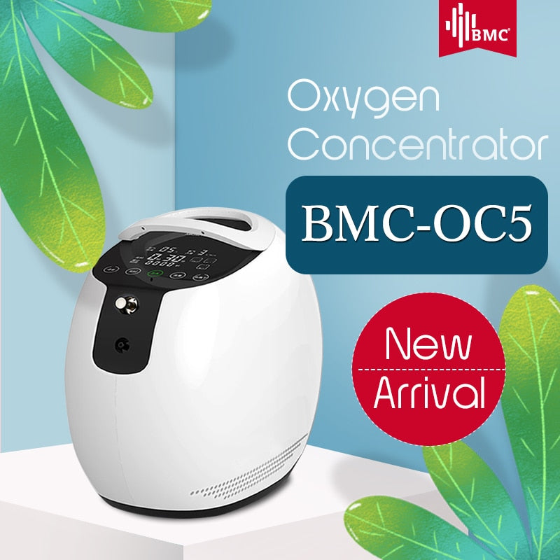 Portable Oxygen Concentrator with Nasal Cannula