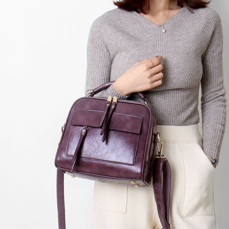 Luxury Genuine Leather Shoulder Bags