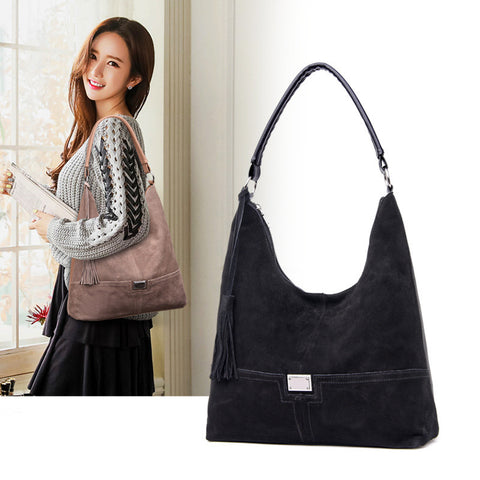 Suede and Leather Hobo Bags