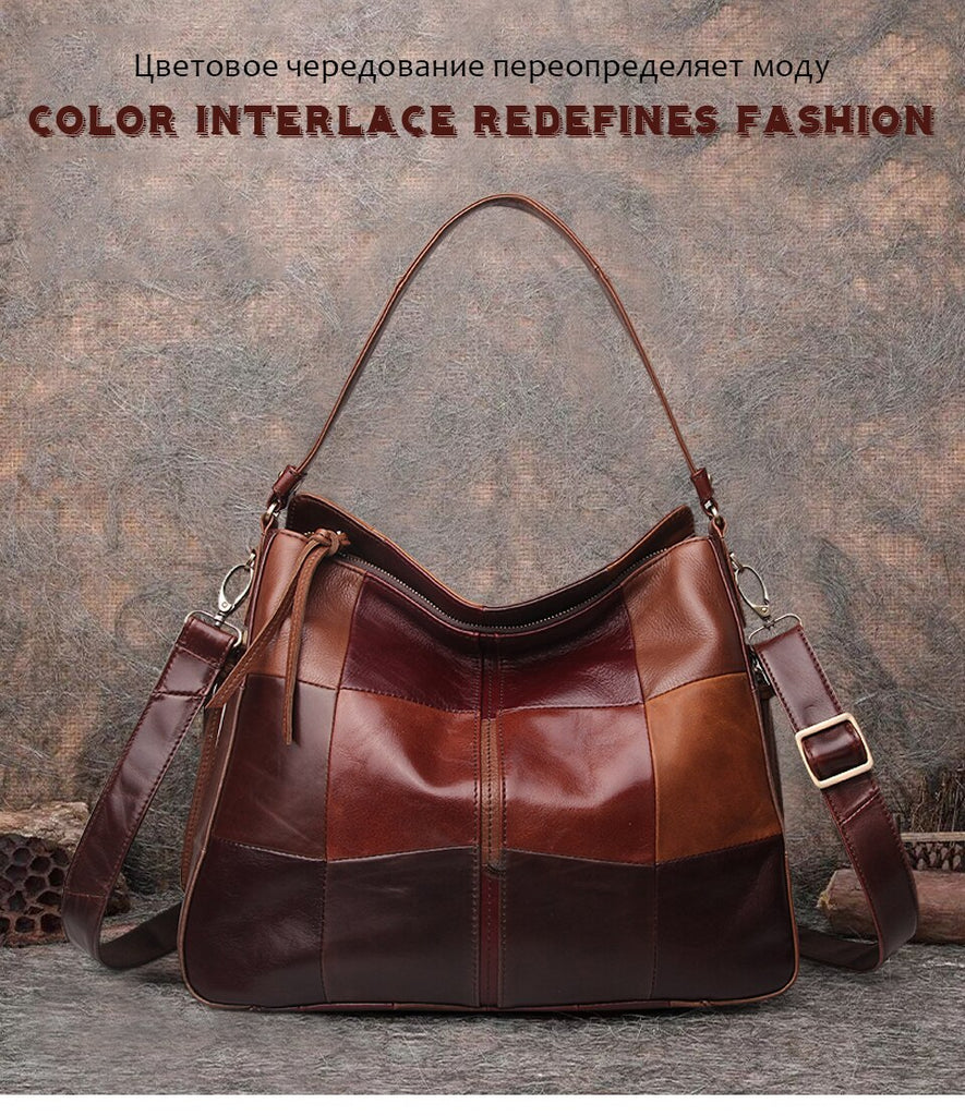 Genuine Leather Patch Bag