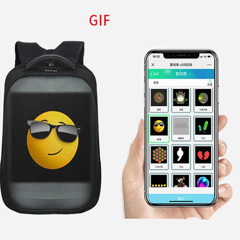 Smart LED Backpack with Display Screen