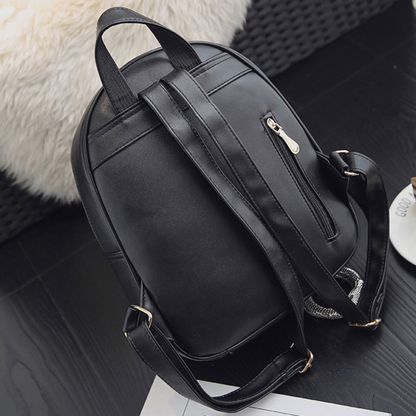 3 Piece Leather Backpack Set