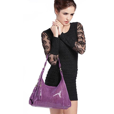 Genuine Leather Snake Skin Handbags