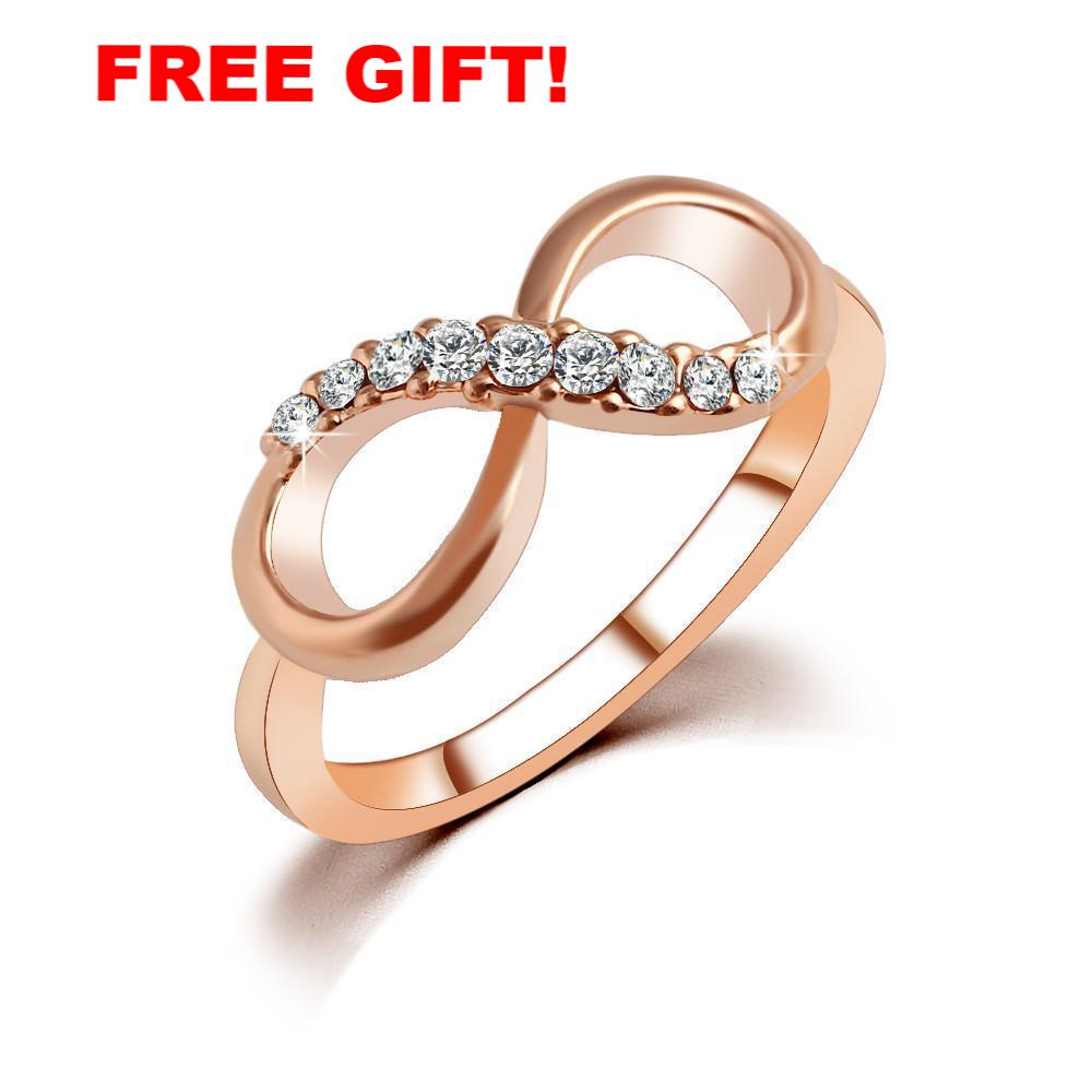 (FREE!) Rose Gold Infinity Ring