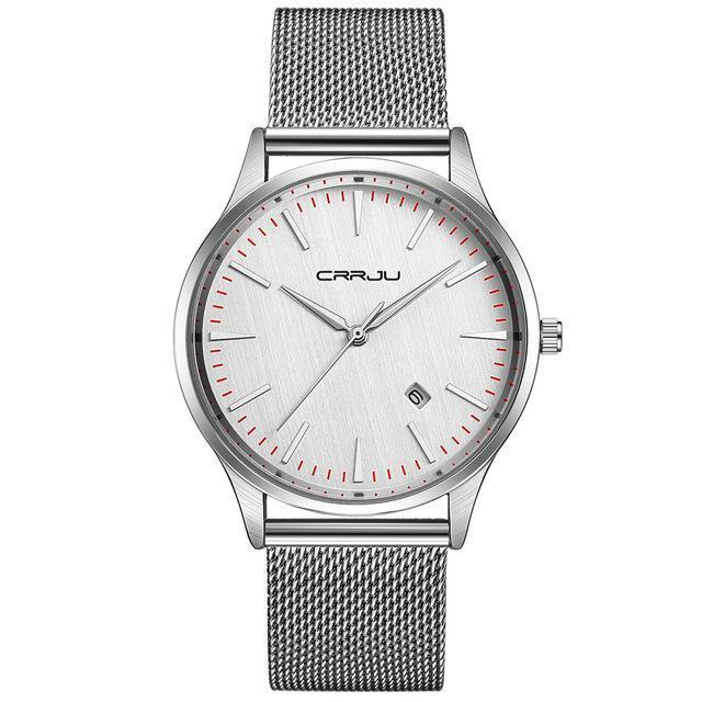 Full Stainless Steel Mesh Strap Watch