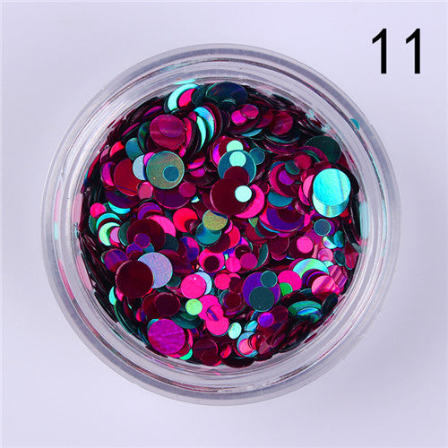 (FREE) Mixed Size Nail Glitter Holographic Flake Design