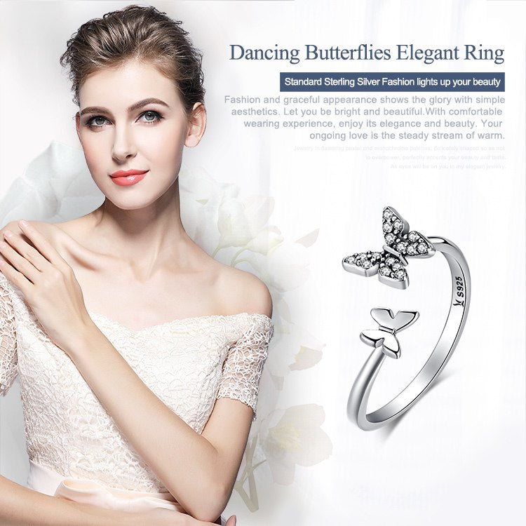 Dazzling Butterfly Ring