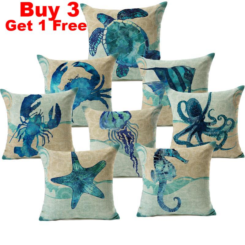 Sealife Pillow Covers