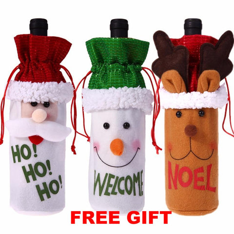 Christmas Wine Bottle Covers