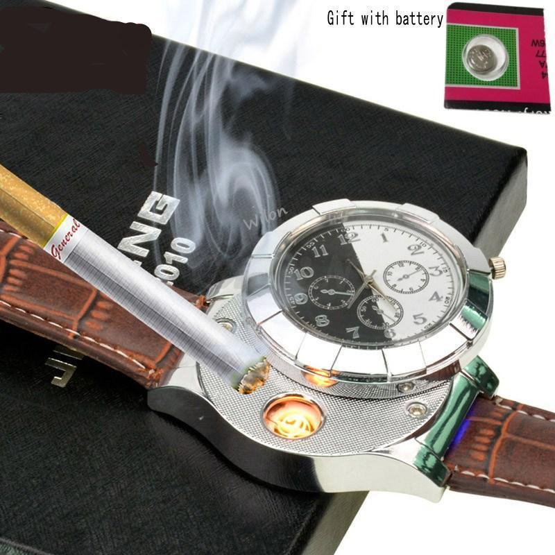 Rechargeable USB Flameless Lighter Watch