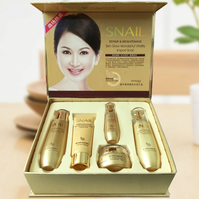 5 Piece Snail Skin Care Kit