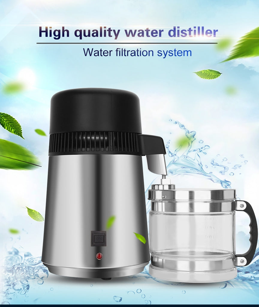 4L Stainless Steel Home Water Distiller/Purifier