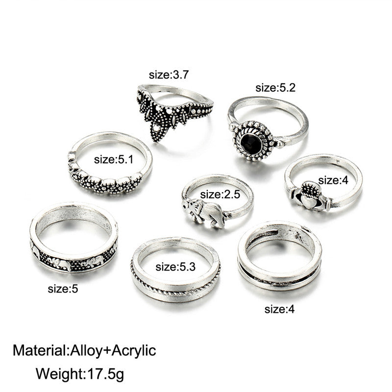 8pcs/set Vintage Knuckle Rings