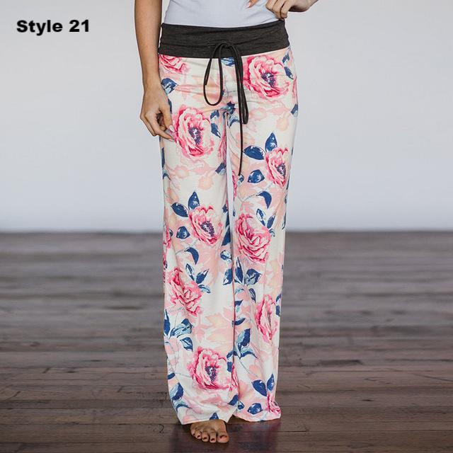 Casual Print Pants
