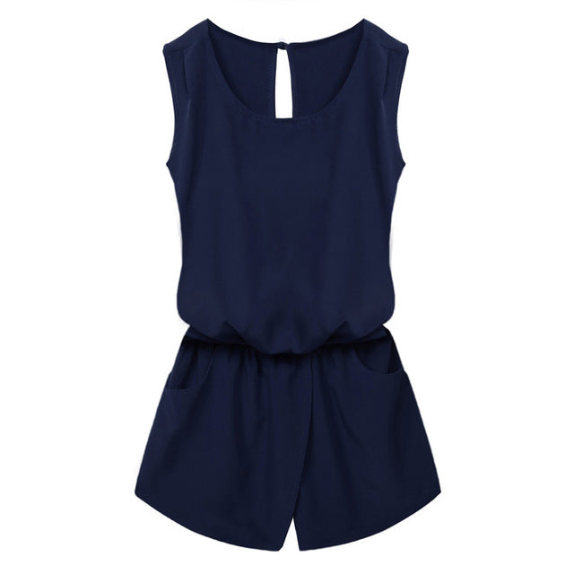 Casual Sleeveless Playsuits