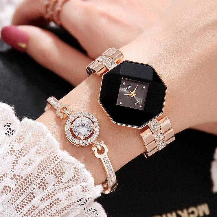 Ladies 2 Piece Quartz Watch Set