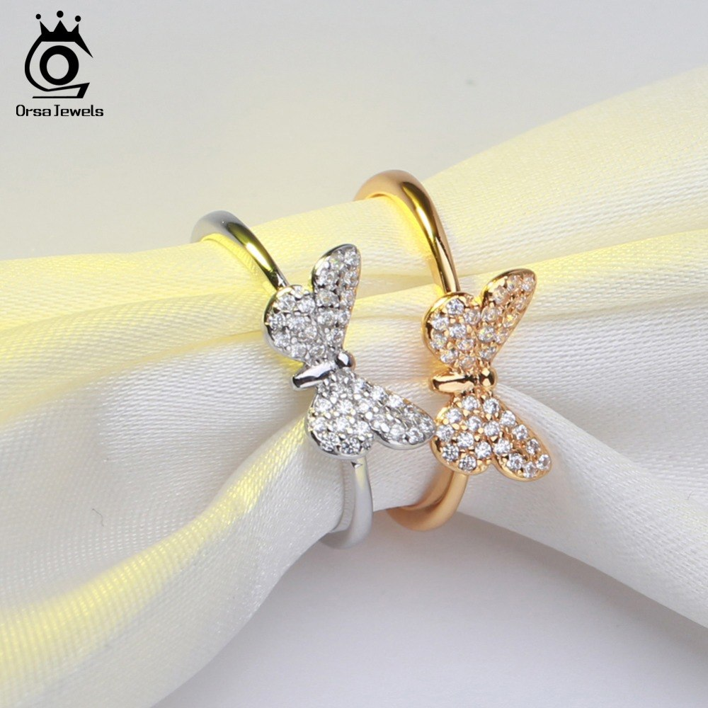 Elegant Silver Butterfly Ring