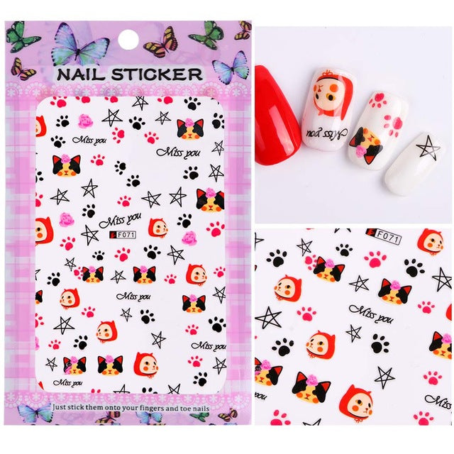 (Free) 3D Nail Stickers