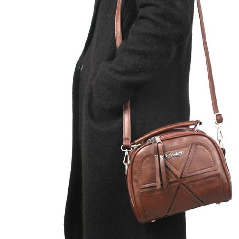 Retro Crossbody Leather Handbag