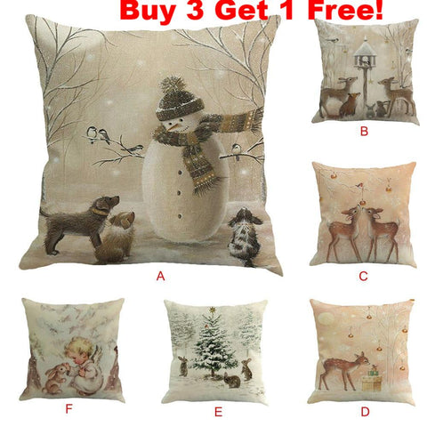 Christmas Themed Pillow Covers