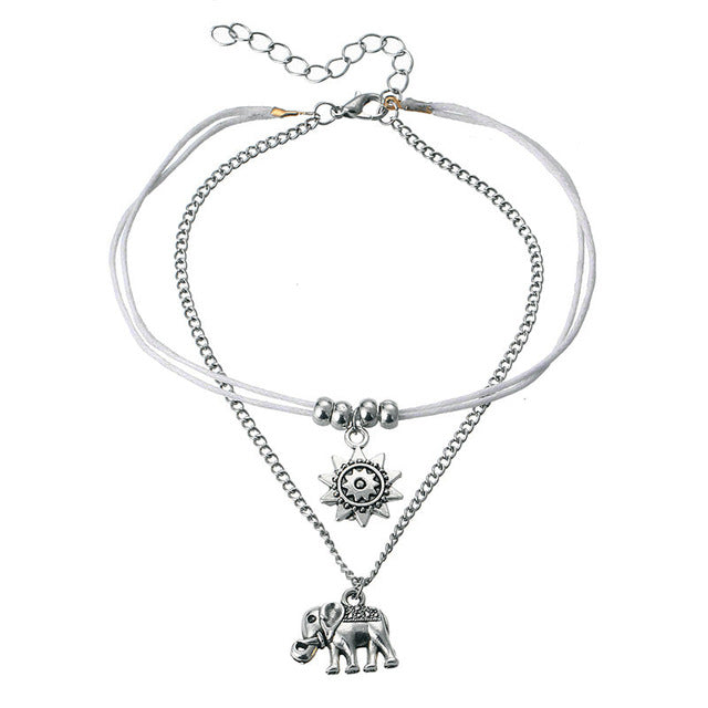 Star Elephant Anklets