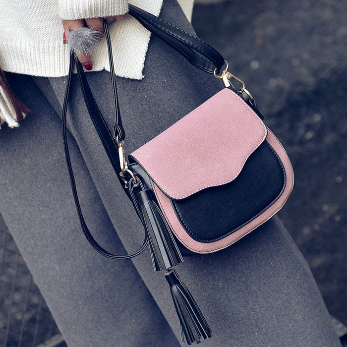 Retro 2 Tone Flap Bag