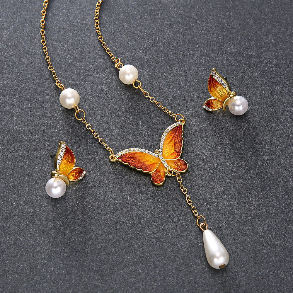 2 Piece Butterfly Earring and Necklace Set