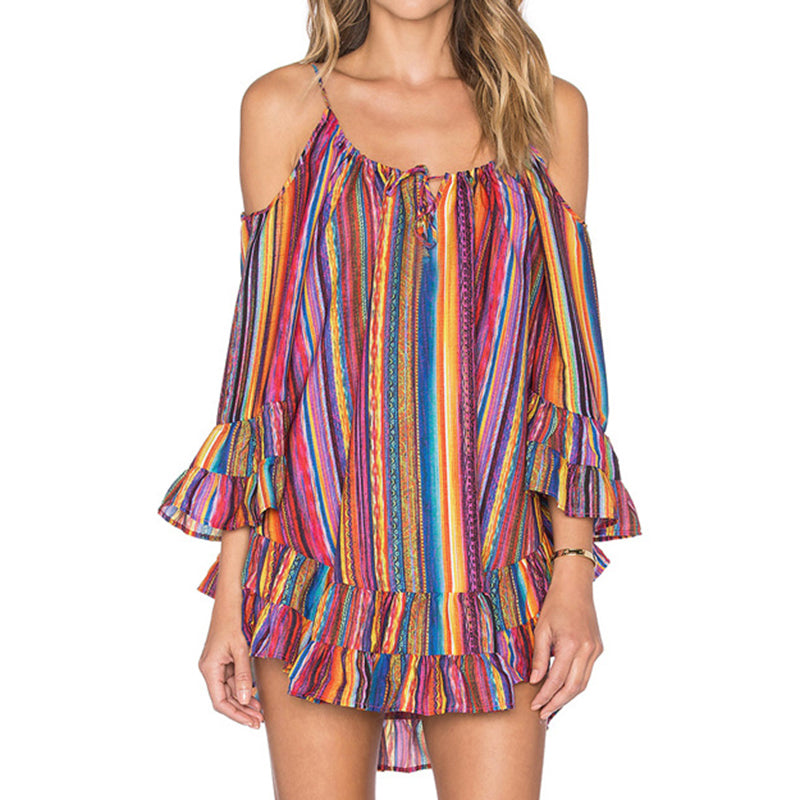 Cold Shoulder Chiffon Tops