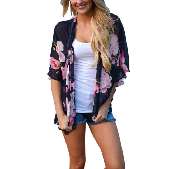 Floral Beach Cover-up