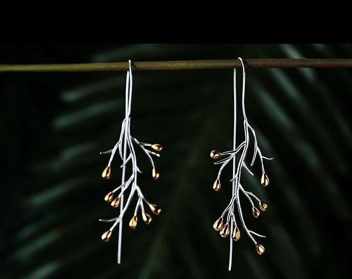 Handmade Hanging Tree Earrings