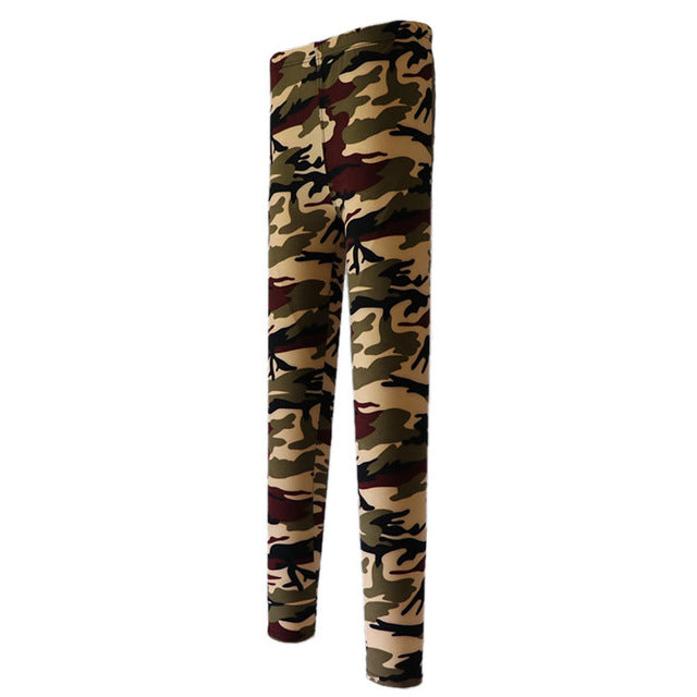 Camouflage Stretch Leggings