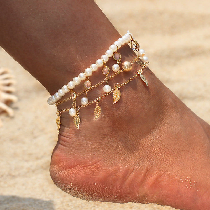 3 Piece Anklet Set