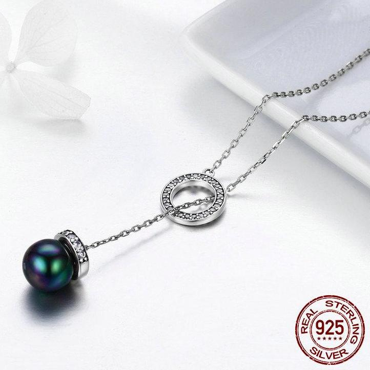 Silver Pearl Chain Necklace