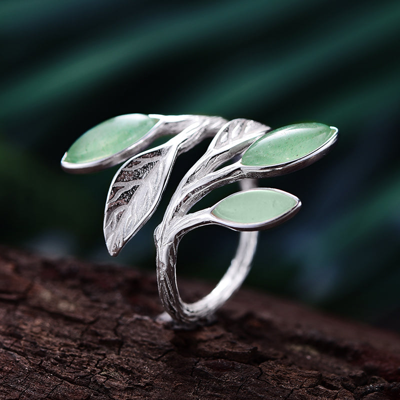 Handmade Leaves Ring