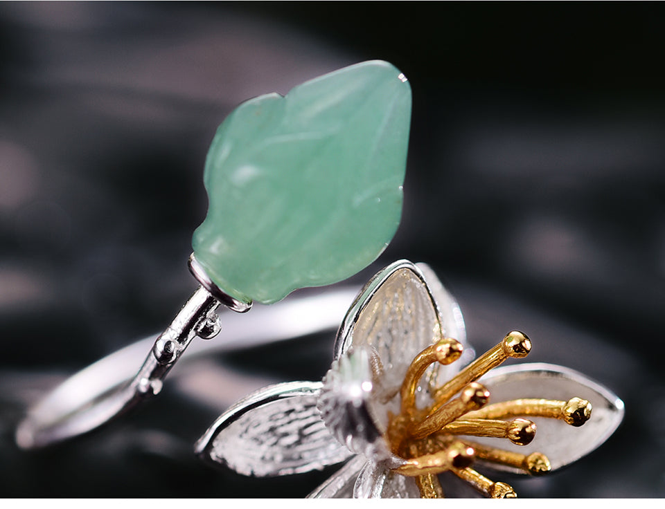 Handmade Gemstone Flower Ring