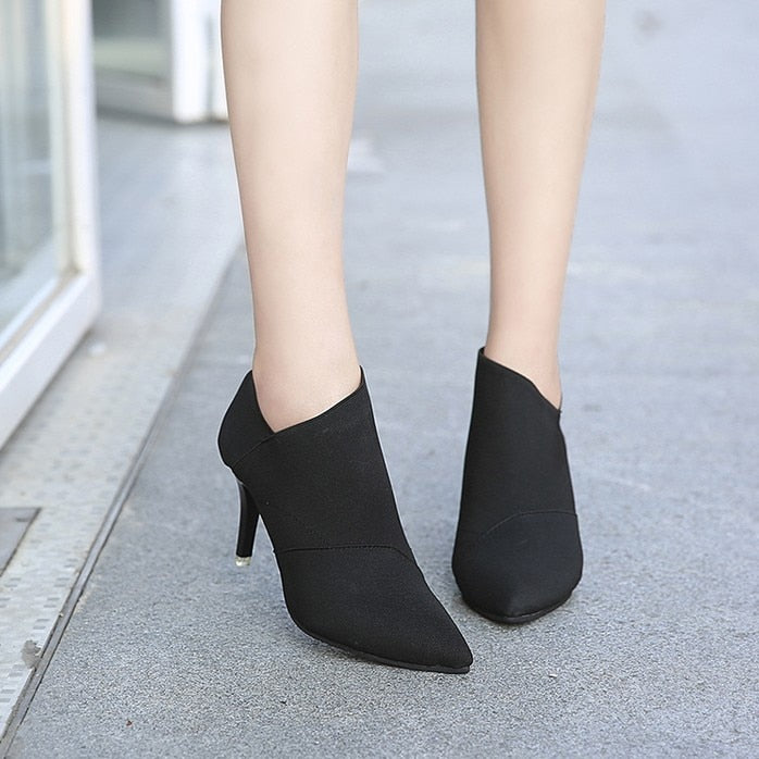 Thin Heel Pointed Toe Shoes