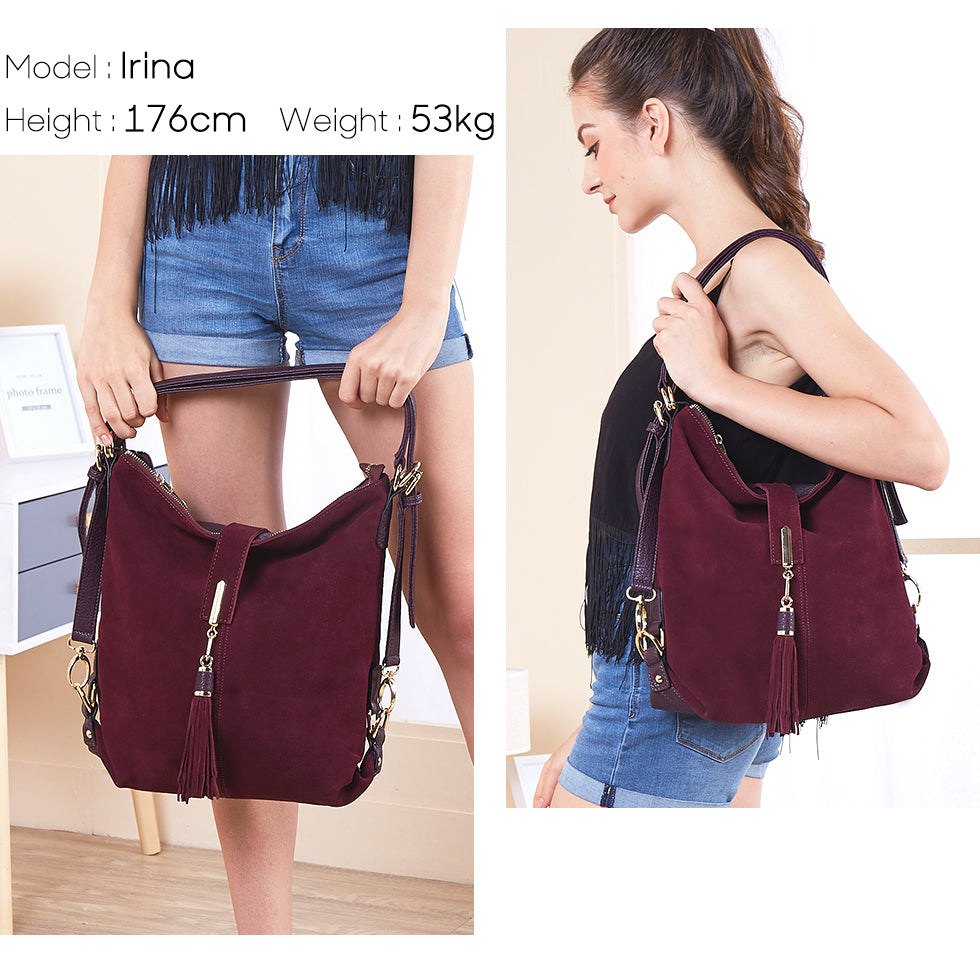 Real Suede Hobo Bag