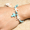 Starfish Cross Anklet