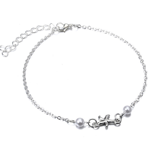 (Free) Silver Starfish Anklet